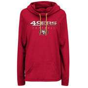 San Francisco 49ers Majestic Women's Speed Fly Pullover Hoodie - Scarlet
