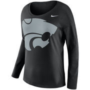 Kansas State Wildcats Nike Women's Tailgate Long Sleeve T-Shirt - Black
