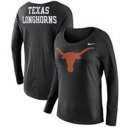 Texas Longhorns Nike Women's Tailgate Long Sleeve T-Shirt - Black