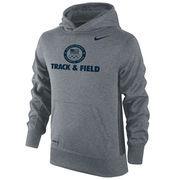 Team USA Track & Field Nike Youth Sport KO Performance Pullover Hoodie - Dark Gray
