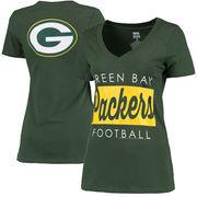 Green Bay Packers Women's Draw Play V-Neck T-Shirt - Green