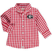 Georgia Bulldogs Infant Logan Gingham Button-Down Long Sleeve Shirt - Red