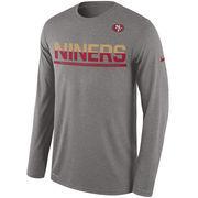 San Francisco 49ers Nike Legend Team Practice Long Sleeve Performance T-Shirt - Gray