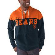 Chicago Bears G-III Sports by Carl Banks First Down Polar Fleece Full-Zip Hoodie - Navy