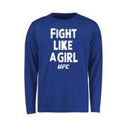UFC Youth Fight Like A Girl Long Sleeve T-Shirt - Royal