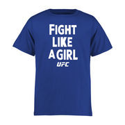 UFC Youth Fight Like A Girl T-Shirt - Royal
