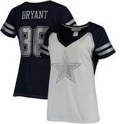 Dez Bryant Dallas Cowboys Women's Player Name & Number V-Neck T-Shirt - White/Navy