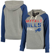 Buffalo Bills G-III 4Her by Carl Banks Women's West Coast Pullover Hoodie - Heathered Gray