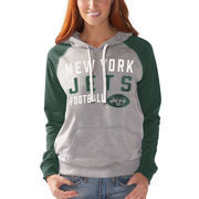 New York Jets G-III 4Her by Carl Banks Women's West Coast Pullover Hoodie - Heathered Gray