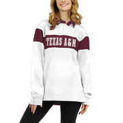 Texas A&M Aggies chicka-d Women's Long Sleeve Rubgy T-Shirt - White
