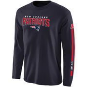 New England Patriots NFL Pro Line Red Zone Long Sleeve T-Shirt - Navy