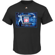Mike Piazza New York Mets Majestic MLB Hall Of Fame Big & Tall Portrait T-Shirt - Black