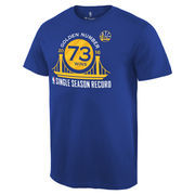 Golden State Warriors Record Breaking Season Exclusive Golden Number T-Shirt - Royal