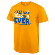 Golden State Warriors Record Breaking Season Exclusive Greatest Season T-Shirt - Gold