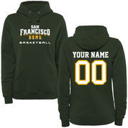 San Francisco Dons Women's Personalized Basketball Pullover Hoodie - Green