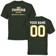 San Francisco Dons Personalized Basketball T-Shirt - Green