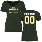 San Francisco Dons Women's Personalized Basketball T-Shirt - Green