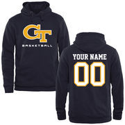 Georgia Tech Yellow Jackets Personalized Basketball Pullover Hoodie - Navy