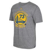 Golden State Warriors adidas Record Breaking Season Exclusive Golden Season Tri-Blend T-Shirt - Gray
