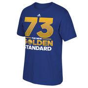 Golden State Warriors adidas Record Breaking Season New Golden Standard T-Shirt - Royal