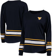 West Virginia Mountaineers Colosseum Women's All Around Oversized Long Sleeve T-Shirt - Navy