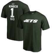 New York Jets NFL Pro Line Number 1 Dad T-Shirt - Green