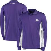 Kansas State Wildcats Colosseum Chip Shot Long Sleeve Polo - Purple