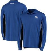Kentucky Wildcats Colosseum Chip Shot Long Sleeve Polo - Royal