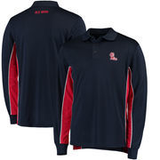 Ole Miss Rebels Colosseum Chip Shot Long Sleeve Polo - Navy