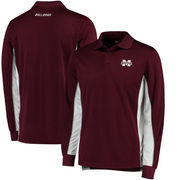 Mississippi State Bulldogs Colosseum Chip Shot Long Sleeve Polo - Maroon