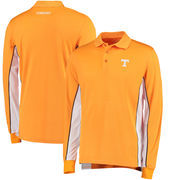 Tennessee Volunteers Colosseum Chip Shot Long Sleeve Polo - Tennessee Orange