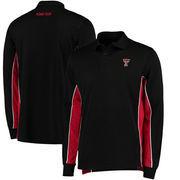 Texas Tech Red Raiders Colosseum Chip Shot Long Sleeve Polo - Black