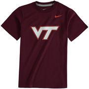 Virginia Tech Hokies Nike Youth Cotton Logo T-Shirt - Maroon