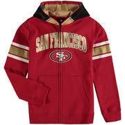 San Francisco 49ers Youth Fan Gear Helmet Full-Zip Hoodie - Scarlet