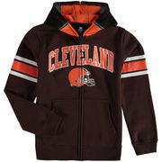 Cleveland Browns Youth Fan Gear Helmet Full-Zip Hoodie - Brown