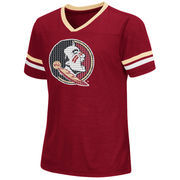 Florida State Seminoles Colosseum Girls Youth Titanium T-Shirt - Garnet