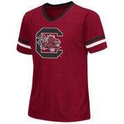 South Carolina Gamecocks Colosseum Girls Youth Titanium T-Shirt - Garnet