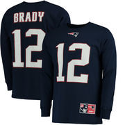 Tom Brady New England Patriots Majestic Big & Tall Eligible Receiver Name & Number Long Sleeve T-Shirt - Navy