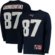 Rob Gronkowski New England Patriots Majestic Big & Tall Eligible Receiver Name & Number Long Sleeve T-Shirt - Navy