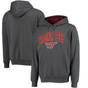 Virginia Tech Hokies Arch & Logo Pullover Hoodie - Charcoal