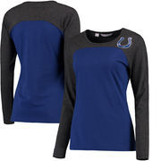 Indianapolis Colts Cutter & Buck Women's Compel Colorblock Long Sleeve T-Shirt - Royal/Gray