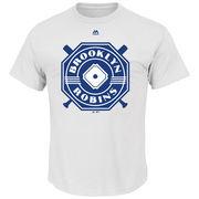 Brooklyn Robins Majestic Historical Team T-Shirt - White