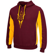 Arizona State Sun Devils Colosseum Thriller II Pullover Hoodie - Maroon/Gold
