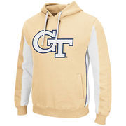 Georgia Tech Yellow Jackets Colosseum Thriller II Pullover Hoodie - Gold/White
