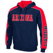 Arizona Wildcats Colosseum Thriller II Full-Zip Hoodie - Navy/Red