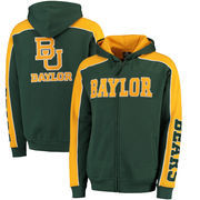 Baylor Bears Colosseum Thriller II Full-Zip Hoodie - Green/Gold