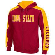 Iowa State Cyclones Colosseum Thriller II Full-Zip Hoodie - Cardinal/Gold