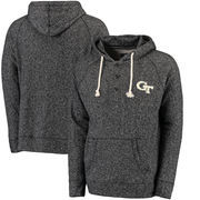 GA Tech Yellow Jackets Colosseum Roadster Pullover Hoodie - Charcoal