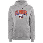 New York Islanders Women's ThreeDee Pullover Hoodie - Ash