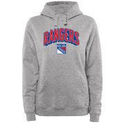 New York Rangers Women's ThreeDee Pullover Hoodie - Ash